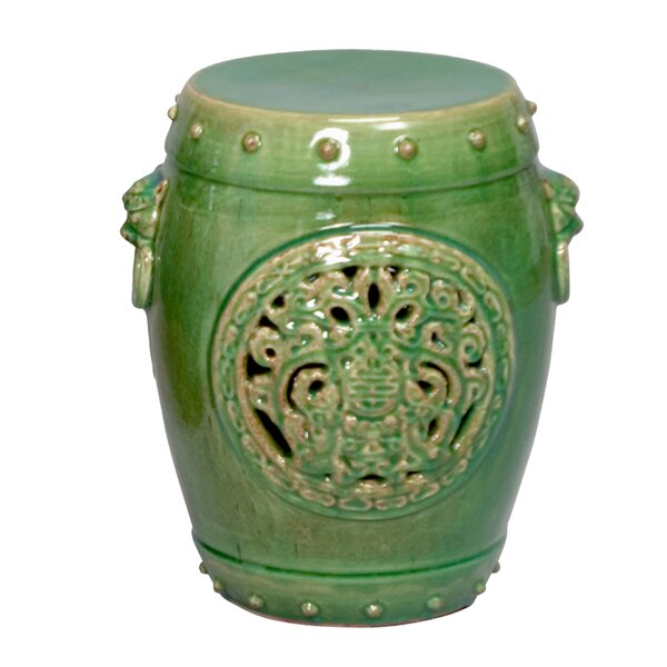Dragon Medallion Ceramic Garden Stool by Emissary Home and Garden Emissary Home and Garden