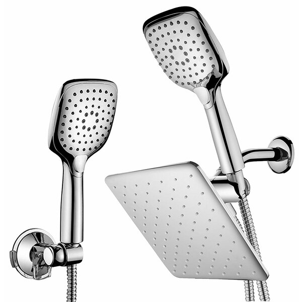 Push-Button Flow Control Multi Function Dual Shower Head by HotelSpa HotelSpa
