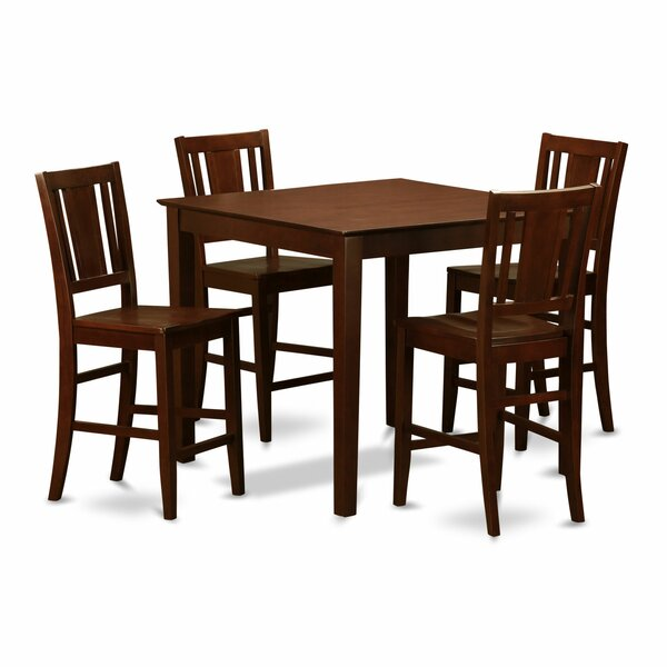 5 Piece Counter Height Pub Table Set by Wooden Importers