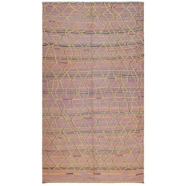 One-of-a-Kind Moroccan Hand-Knotted 1950s Moroccan Purple 5' x 9' Wool Area Rug