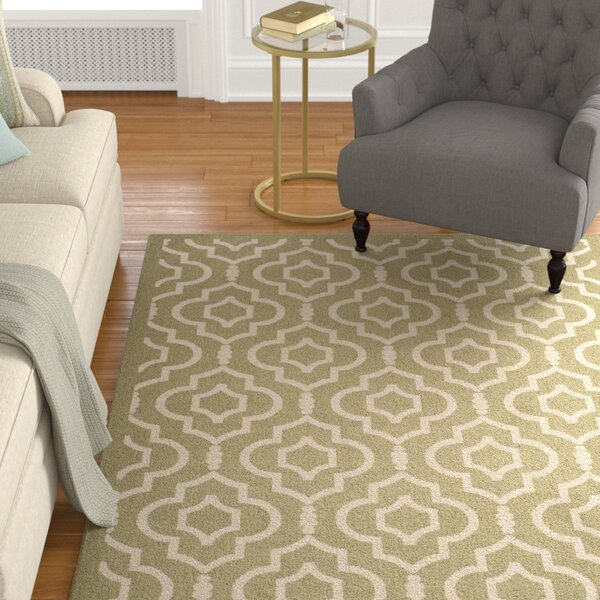 Larson Green/Beige Indoor/Outdoor Area Rug by Sol 72 Outdoor