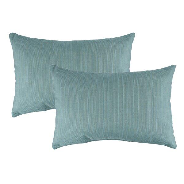 Dupione Outdoor Sunbrella Lumbar Pillow (Set of 2) by Austin Horn Classics