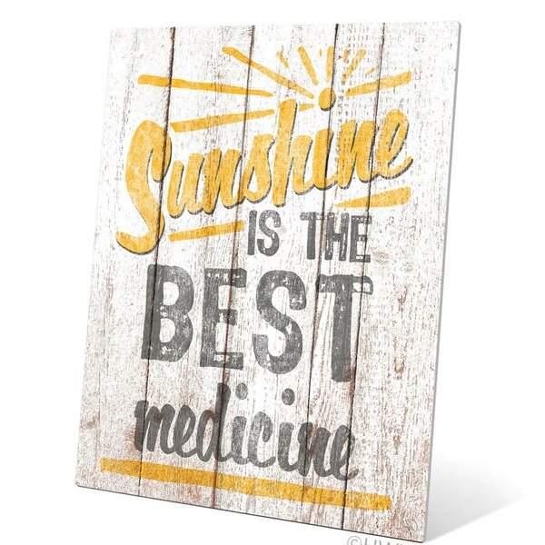 Sunshine Is The Best Medicine Textual Art Plaque by Click Wall Art