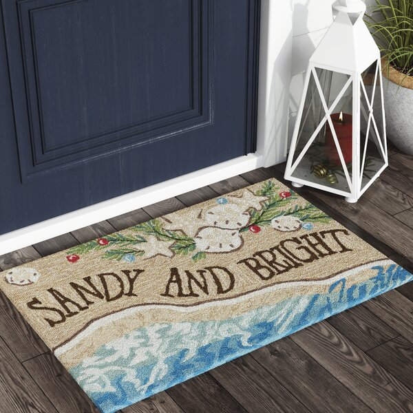 Nana Sandy and Bright Hand-Tufted Natural Indoor/Outdoor Area Rug by Highland Dunes