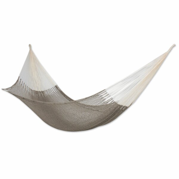 Fair Trade Maya Artists of The Yucatan Shaded Sand Double Person Hand Woven  Cotton Tree Hammock by Novica