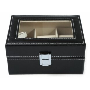 Find 3 Grids Leather Watch Box By Charlton Home