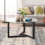 Barstow Solid Wood 3 Legs Coffee Table by George Oliver