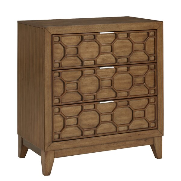 Keppler 3 Drawer Nightstand by Wrought Studio