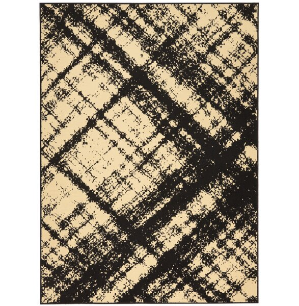 Walton Cream/Black Indoor Area Rug by Williston Forge