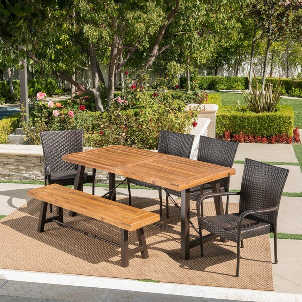 Appleton Outdoor 6 Piece Dining Set By Brayden Studio