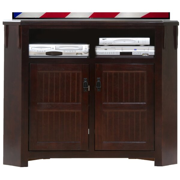 Simeon Solid Wood Corner TV Stand For TVs Up To 55