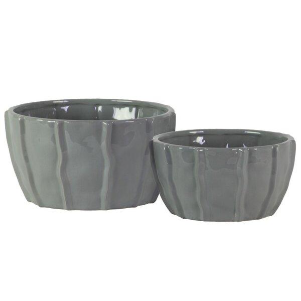 Higgenbotham Ceramic 2 Piece Decorative Bowl Set by Highland Dunes