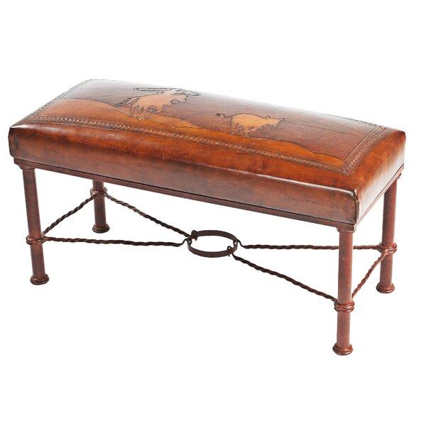 Fernando Calf Roper Leather Bench by New World Trading