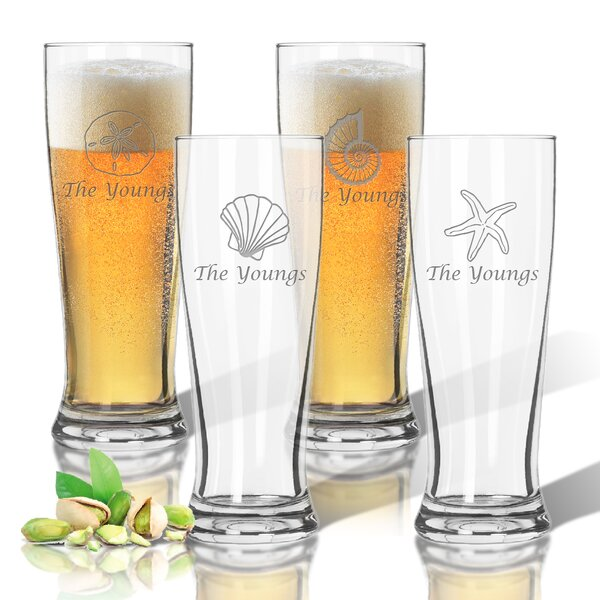 Tritan 14 oz. Pilsner Glass (Set of 4) by Carved Solutions