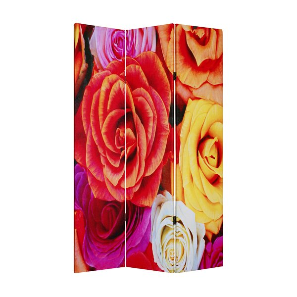 Daisy and Rose 3 Panel Room Divider by Screen Gems