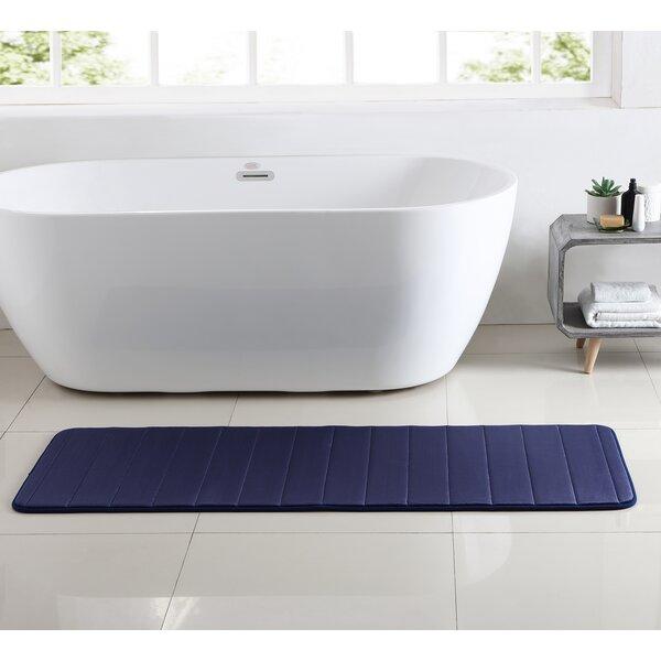 Leone Stitch Memory Foam Bath Rug by Red Barrel Studio