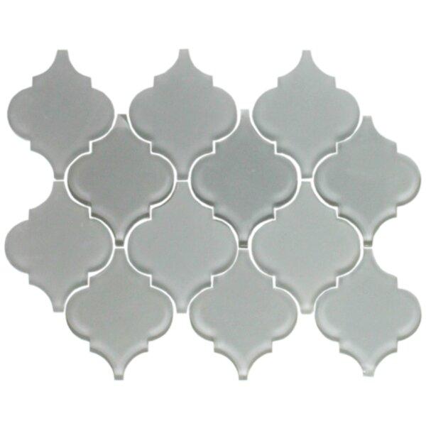 Teardrop Random Sized Glass Mosaic Tile in Gray by Susan Jablon