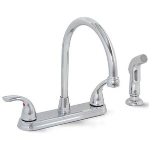 Premier Faucet Westlake 2 Metal Lever Handle Kitchen Faucet with Spray