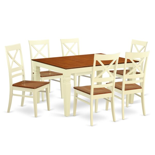 Annapolis 7 Piece Dining Set by Darby Home Co