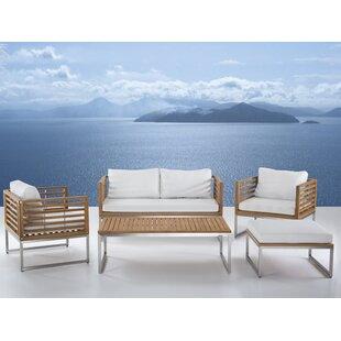 Marone Patio 5 Piece Conversation Set with Cushions ByOrren Ellis
