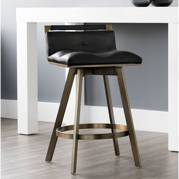 Distefano Bar & Counter Swivel Stool by Everly Quinn