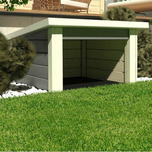 77 cm x 73 cm Gartenhaus Mähroboter 1 Woodfeeling Farbe: Grau | Garten > Gartenhäuser | Woodfeeling