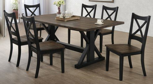 Landrum 7 Piece Solid Wood Breakfast Nook Dining Set by World Menagerie World Menagerie