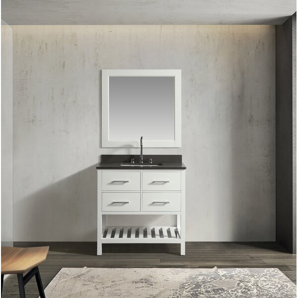 Highland Creek 36 Single Bathroom Vanity Set with Mirror by Ebern Designs