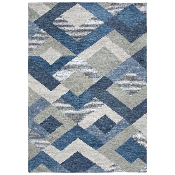 Prochaska Hand-Tufted Wool Blue/Gray Area Rug by Latitude Run