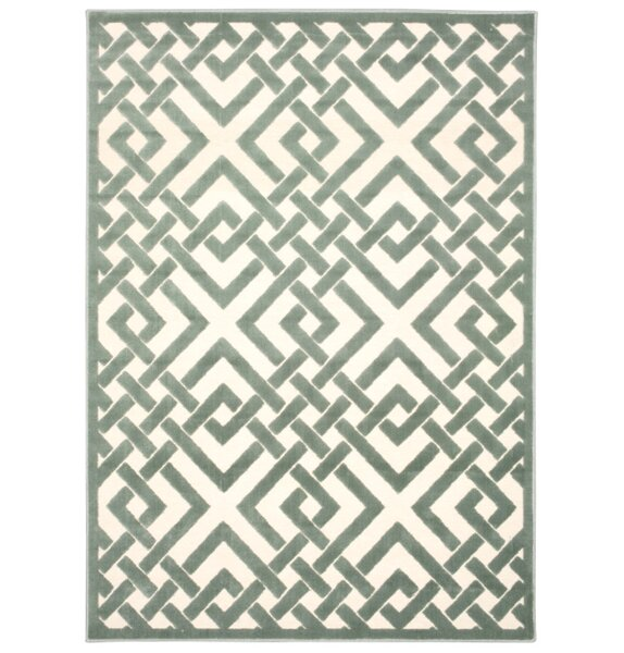 Hartz Ivory/Aqua Area Rug by House of Hampton