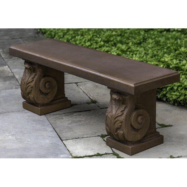 Fidelia Stone Garden Bench by Fleur De Lis Living
