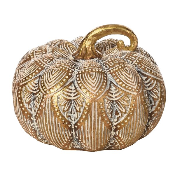 Aaru Resin Pattern Pumpkin by August Grove