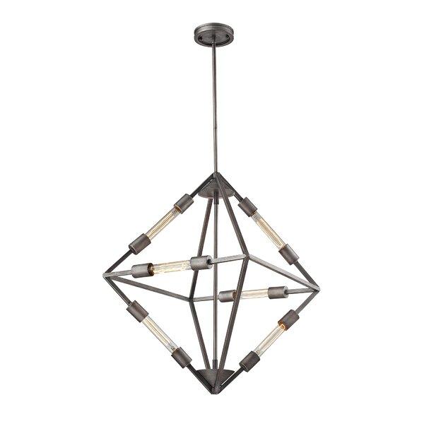 Dunleavy 6-Light Unique / Statement Geometric Chandelier By Brayden Studio