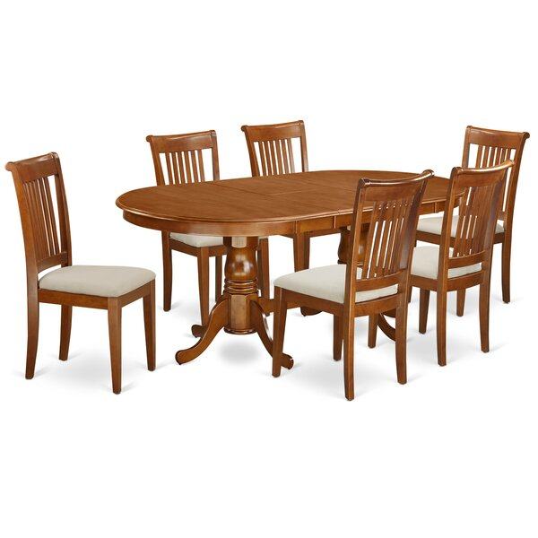 Germantown 7 Piece Drop Leaf Solid Wood Dining Set by Darby Home Co