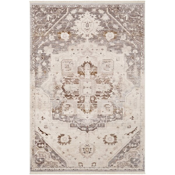 Mendelsohn Oriental Vintage Persian Traditional Brown/Cream Area Rug by Three Posts