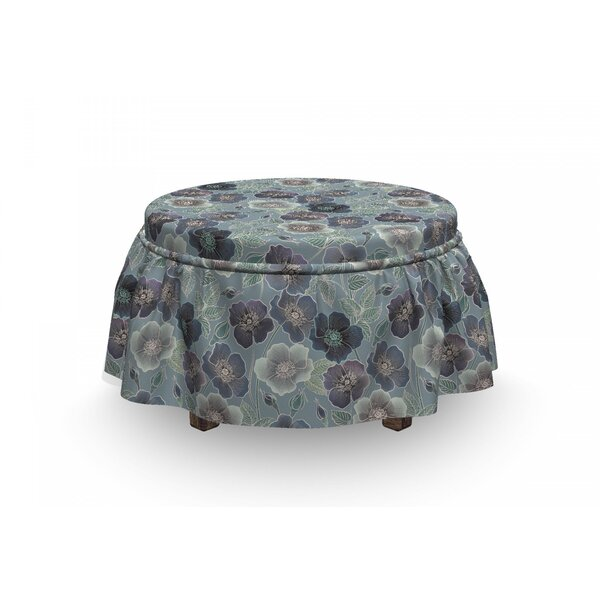 Floral Season Country Ottoman Slipcover (Set Of 2) By East Urban Home