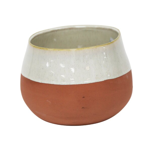 Milena Two Tone Decorative Ceramic Table Vase by C