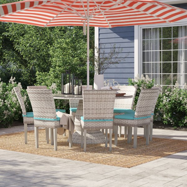 Falmouth 9 Piece Dining Set with Cushions by Sol 72 Outdoor