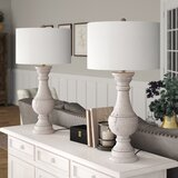 "Elvis 31"" Gray Table Lamp Set (Set of 2)"