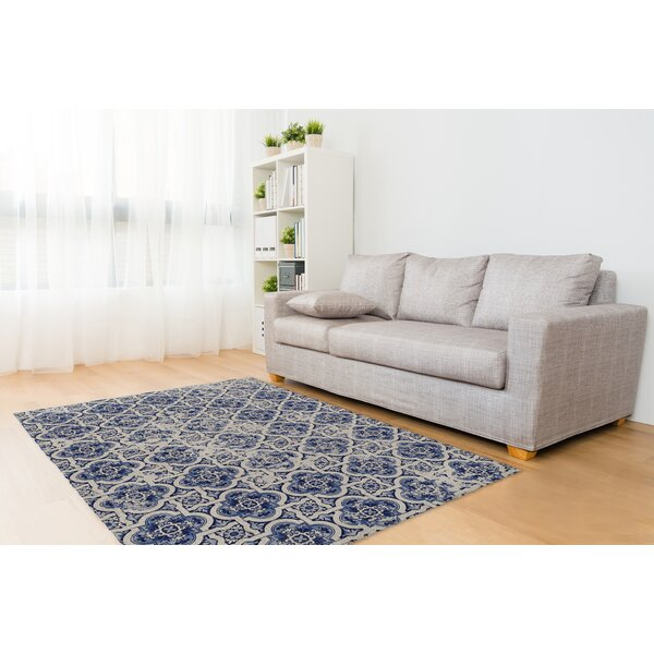 Blue Tile Area Rug by KAVKA DESIGNS