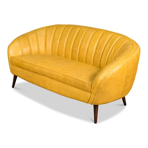 Polite Leather Sofa by Brayden Studio