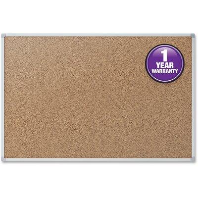 Cork Surface Wall Mounted Bulletin Board Mead Size: 25.5
