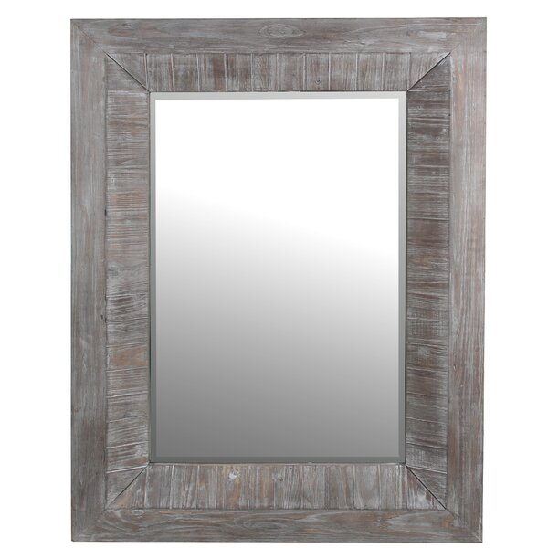 Mayweather Rectangular Reclaimed Accent Mirror by Gracie Oaks