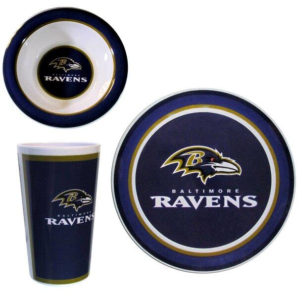 NFL Melamine 12 Piece Dinnerware Set, Service for 4 by Siskiyou Gifts