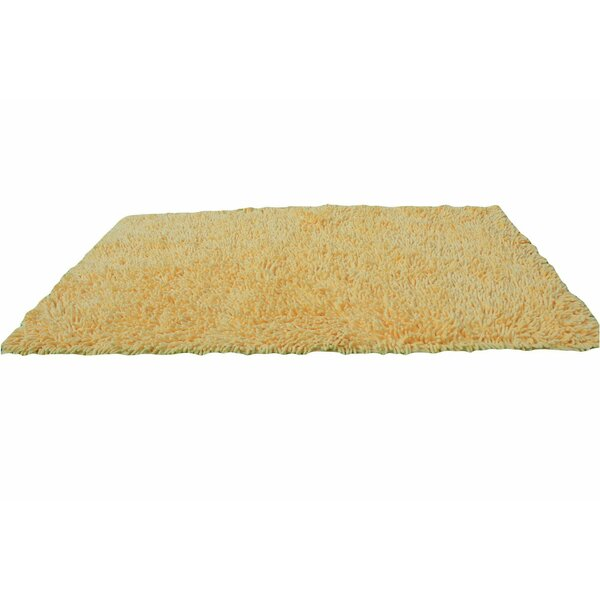 Chenille Yellow Area Rug by Tache Home Fashion
