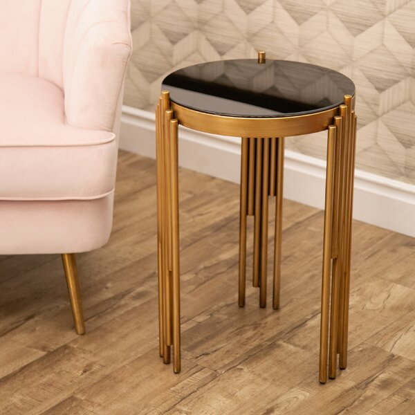 Lancaer Glass Top End Table By Mercer41