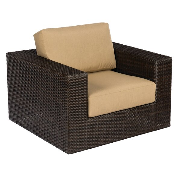 Montecito Swivel Patio Chair with Cushions by Woodard
