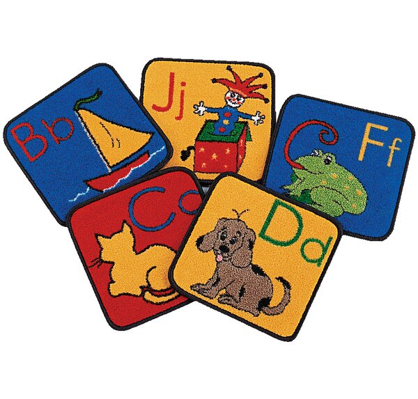 Carpet Kits ABC Phonic Block Area Rug by Carpets for Kids