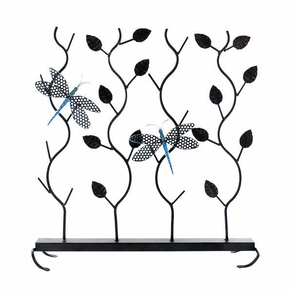 Jordana Dragonflies Single Panel Fireplace Screen By Charlton Home