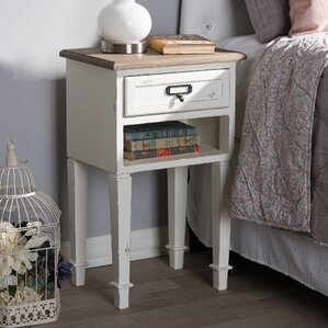 Fleurance Wood 1 Drawer Nightstand by Lark Manor